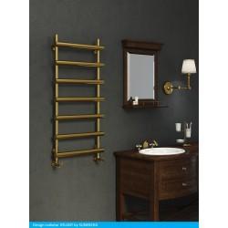 Grzejnik łazienkowy Atlant 120x50 Sunerzha złoty