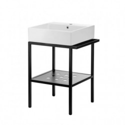 Deante Temisto Umywalka stawiana na blacie z konsolą łazienkową - 66x50 cm