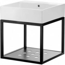 Deante Temisto Umywalka stawiana na blacie z konsolą łazienkową wiszącą 60x50