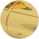 Grzejnik łazienkowy Cascade 70x100 złoty SUNERZHA
