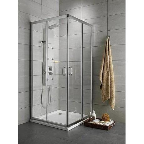Kabina kwadratowa Radaway Premium Plus C 80x80x190 szkło brązowe