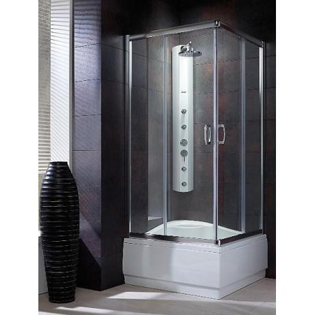 Kabina kwadratowa Radaway Premium Plus C 80x80x170 szkło brązowe