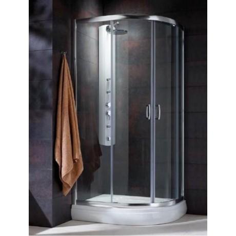 Kabina asymetryczna Radaway Premium Plus E 100x80x190 szkło fabric