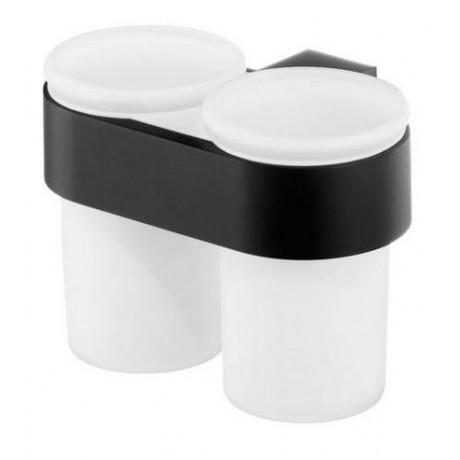 Szklanka podwójna BISK Futura Black 02960 czarna