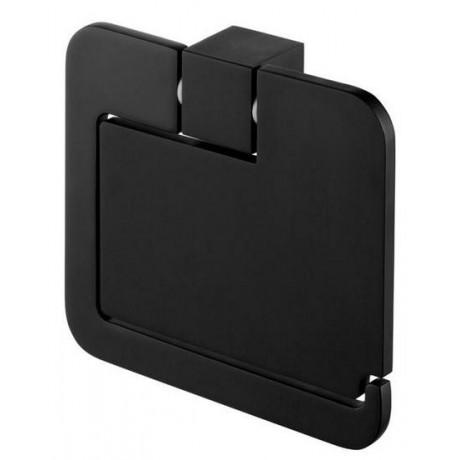 Uchwyt WC z klapką BISK Futura Black 02961 czarny