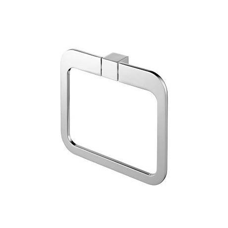 Wieszak owalny BISK Futura silver chrom 02996