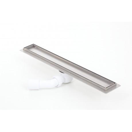 Odpływ liniowy z flanszą Kesmet 60 cm z rusztem Ceramic Tile