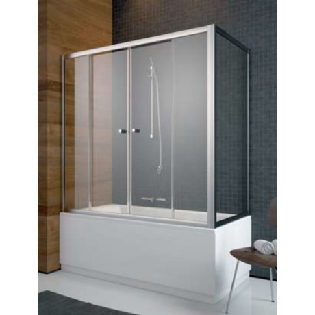 Zabudowa nawannowa ze ścianką Radaway Vesta DWD+S 150x70x150 szkło przejrzyste