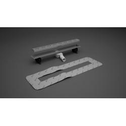 Odpływ liniowy 75 cm Radaway z rusztem Basic do stosowania z płytkami o grubości 8-12 mm