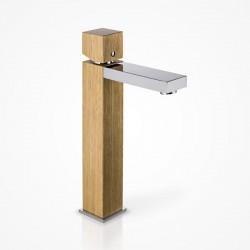 Bateria umywalkowa stojąca wysoka drewniana dąb europejski