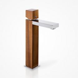 Bateria umywalkowa stojąca wysoka drewniana eldorado Green Home Design