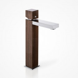Bateria umywalkowa stojąca wysoka drewniana orzech amerykański Green Home Design