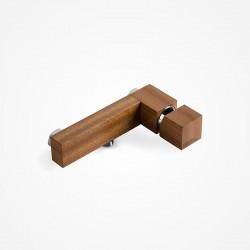 Bateria wannowa ścienna drewniana dąb europejski Green Home Design