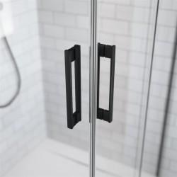Kabina Radaway Idea Black KDJ 100x80x200,5 lewa, szkło przejrzyste