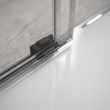 Kabina Radaway Idea Black KDD 90x90x200,5 szkło przejrzyste