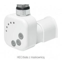 Grzałka elektryczna HEC biała z maskownicą Radeco