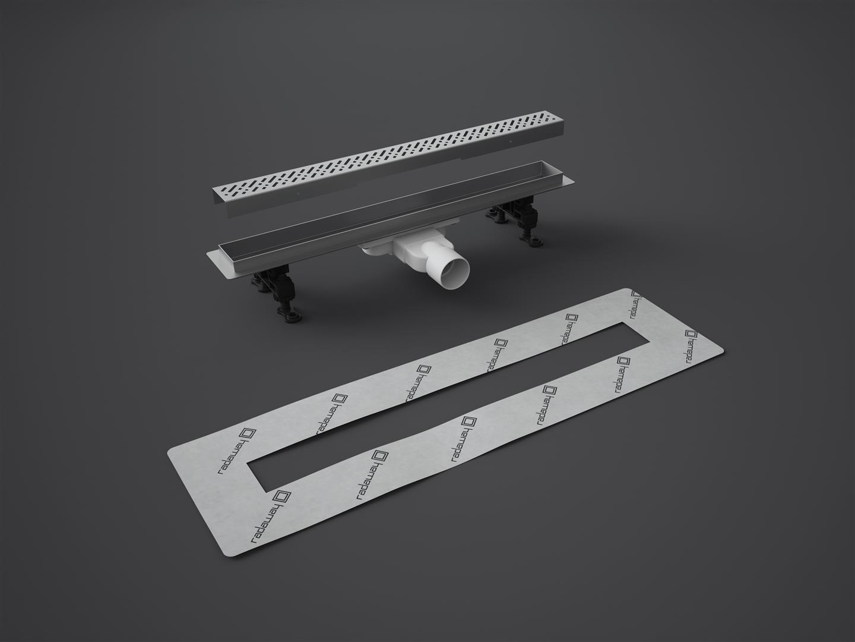 Odpływ liniowy SLIM 75 cm RADAWAY ruszt Basic