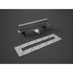 Odpływ liniowy SLIM 85 cm RADAWAY ruszt Glass Black