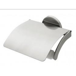 Uchwyt WC z klapką BISK Virginia 72079 / satyna/nikiel