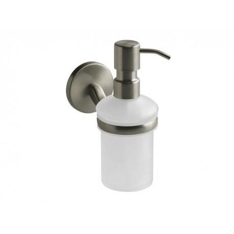 Dozownik mydła z uchwytem BISK Virginia 72089 / satyna/nikiel