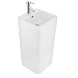 Umywalka wolnostojąca ceramiczna Massi TRIUMF 40x40 cm z otworem na baterię i przelewem