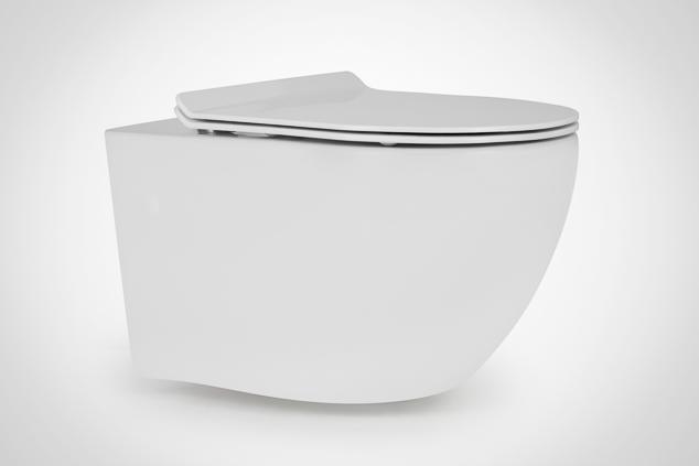 Miska WC wisząca ceramiczna Massi DECOS RIMLESS 36x55 cm