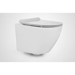 Miska WC wisząca ceramiczna Massi DECOS MINI RIMLESS 36x48 cm