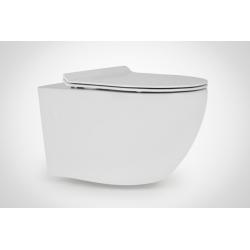 Miska WC wisząca ceramiczna DECOS SLIM 36x55 cm