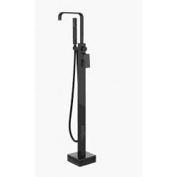 Bateria wannowa wolnostojąca Besco MODERN czarny mat