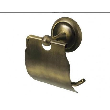 Uchwyt WC z klapką BISK Deco 00403 / antyczny mosiądz