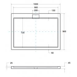 Brodzik prostokątny Besco AXIM ULTRASLIM 100x90x4,5