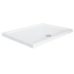 Brodzik prostokątny biały Besco ALPINA SLIMLINE 100x80x3