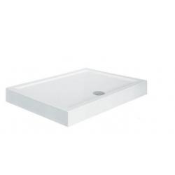 Brodzik prostokątny zintegrowany biały Besco ALPINA SLIMLINE 100x80x3