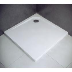 Brodzik kwadratowy biały Besco ACRO ULTRASLIM 80x80x2