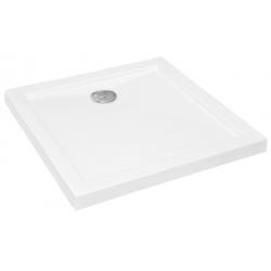 Brodzik kwadratowy biały AQUARIUS SLIMLINE 80X80X3