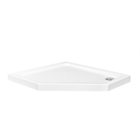 Brodzik pięciokątny biały Besco BERGO SLIMLINE 90x90x3