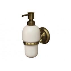 Dozownik mydła z uchwytem BISK Deco 02213 / antyczny mosiądz