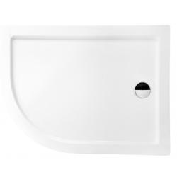 Brodzik asymetryczny kompaktowy prawy Besco SATURN-PMD 100x80x4