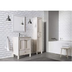 Zestaw dębowych mebli łazienkowych z umywalką 80 cm Santos Oak kolor white wash Elita