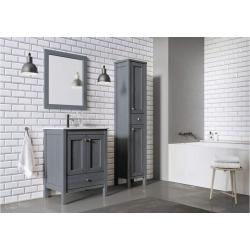 Zestaw dębowych mebli łazienkowych z umywalką 80 cm Santos Oak kolor ash Elita