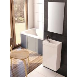 Zestaw mebli łazienkowych szafka z umywalką Ravell kolor anthracite  Elita