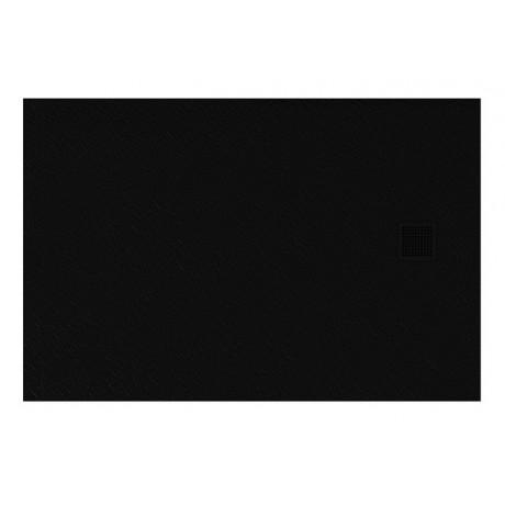 Brodzik prostokątny New Trendy Mori 100x80x3 czarny